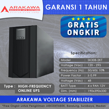 UPS ARAKAWA ON-LINE SK30B 2KVA