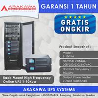 UPS ARAKAWA ON-LINE SK30AR 1-10 KVA RACK MOUNT 1