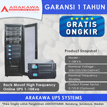 ARAKAWA on-line UPS SK30AR 1-10 KVA RACK MOUNT