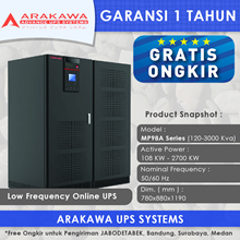 UPS ARAKAWA ON-LINE MP98A 120KVA