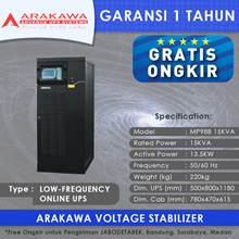 UPS ARAKAWA ON-LINE MP98B 15KVA