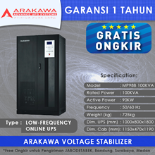 ARAKAWA on-line UPS MP98B 100KVA