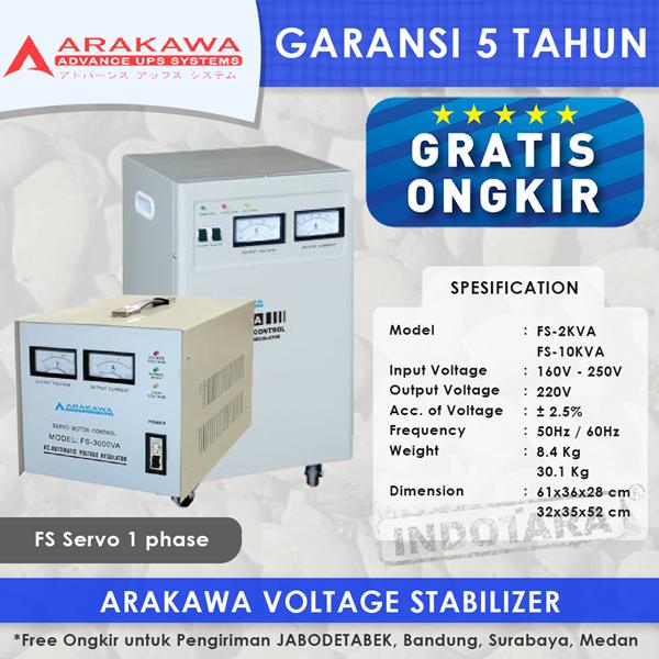 STABILIZER ARAKAWA FS 1 PHASE FS-7.5KVA