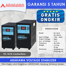 STABILIZER ARAKAWA FD 1 PHASE FD-2KVA CONTACTLESS