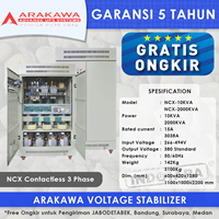 Jual STABILIZER ARAKAWA NCX 3 PHASE NCX-75KVA
