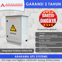 Jual UPS OUTDOOR LM30E 1KVA ON-LINE ARAKAWA 1 PHASE