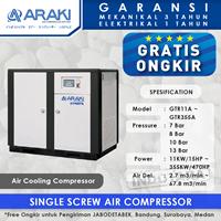 The compressor Wind Cooling Screw Air GTR75A Araki-14 Bar