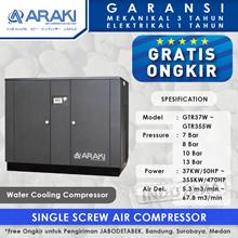 Kompresor Angin Araki Screw Water Cooling GTR37W - 13 Bar