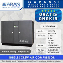 Kompresor Angin Araki Screw Water Cooling GTR355W - 13 Bar