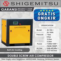 Jual Kompresor Angin Double Screw Belt Air Cooling JB60A - 12 Bar