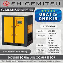 Kompresor Angin Double Screw Belt Inverter JVB-25A - 8 Bar