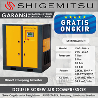 Kompresor Angin Double Screw Direct Coupling Inverter JVG-75A - 12 Bar