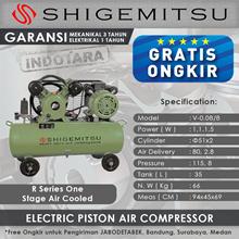 Kompresor Angin Listrik One Stage Shigemitsu V-0.08-8 Tank 35L