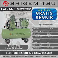 Kompresor Angin Listrik One Stage Shigemitsu Z-0.10-8 Tank 35L