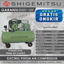 Kompresor Angin Listrik One Stage Shigemitsu V-0.25-8 Tank 100L