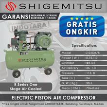 Kompresor Angin Listrik One Stage Shigemitsu W-0.36-8 Tank 110L
