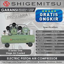 Kompresor Angin Listrik One Stage Shigemitsu W-0.67-8 Tank 180L