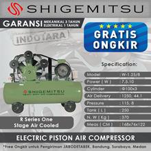 Kompresor Angin Listrik One Stage Shigemitsu W-1.25-8 Tank 250L