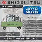 Kompresor Angin Listrik Two Stage Shigemitsu V-0.40-12.5 Tank 270L 1