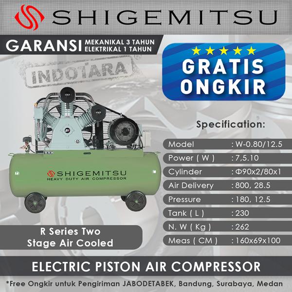 Wind Electric compressors Two Stage Shigemitsu W – 0.80-12.5 230L Tanks