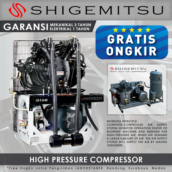 The compressor Wind Shigemitsu High Pressure Molding Machine For LZ-1.2 -30
