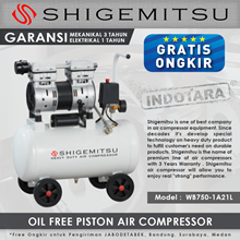Kompresor Angin Oil Free Shigemitsu WB750-1A21L Tank 21L