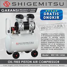 Kompresor Angin Oil Free Shigemitsu WB1100-1A36L Tank 36L 1.5HP