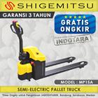 Hand Pallet Semi Electric Truck Shigemitsu MP15A 1