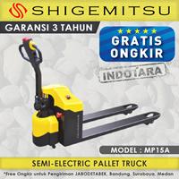 Jual Hand Pallet Semi Electric Truck Shigemitsu MP15A