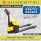 Hand Pallet Semi Electric Truck Shigemitsu MP15A