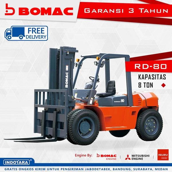 Forklift Bomac RD-80 Kapasitas 8 Ton