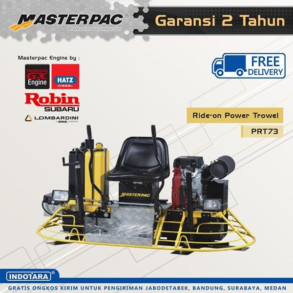 Mesin Pemadat Tanah beton Ride-on Power Trowel