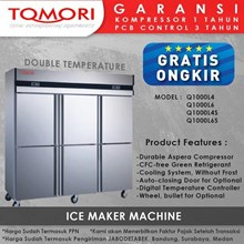 Kulkas Stainless Steel Dual Temperature Kitchen Refrigerator (Double Temperature) - Q1000L4