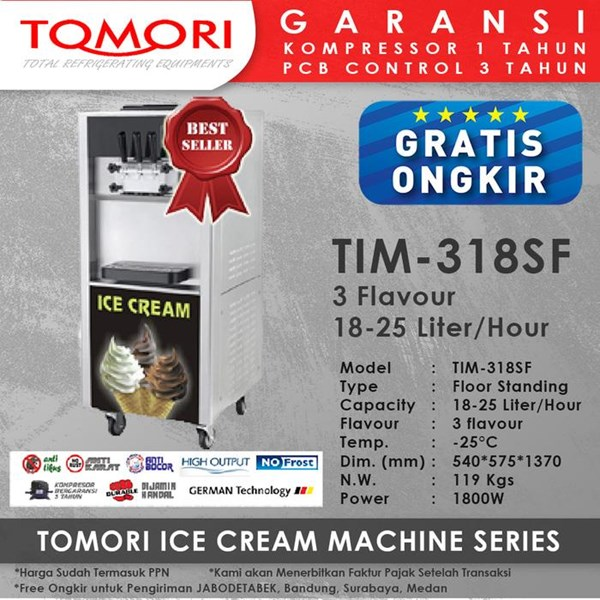 Ice Cream Machine 3 Handle TOMORI TIM-318SF