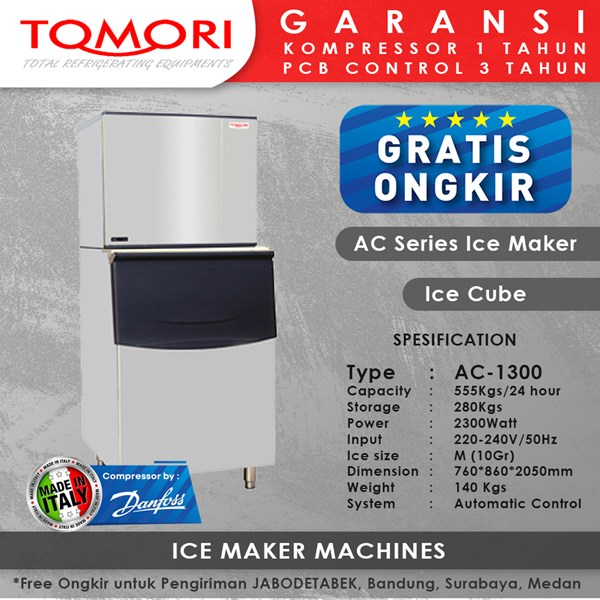 Mesin Pembuat Es Kubus AC-1300 TOMORI ICE CUBE