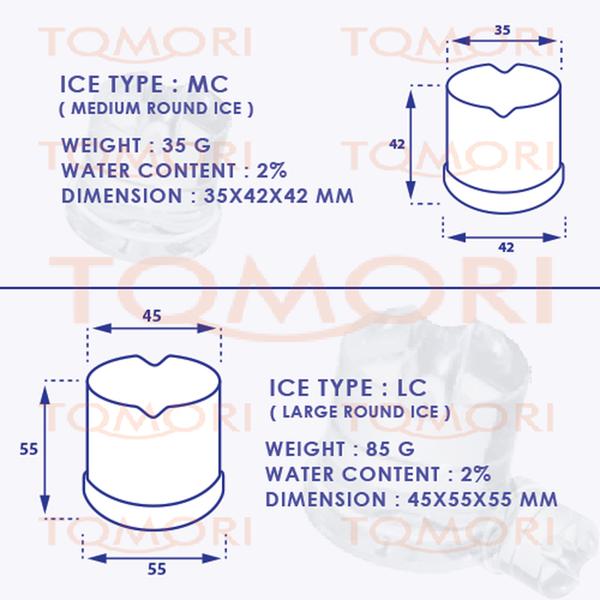Mesin Pembuat Es Silinder EC-65 TOMORI EC SERIES