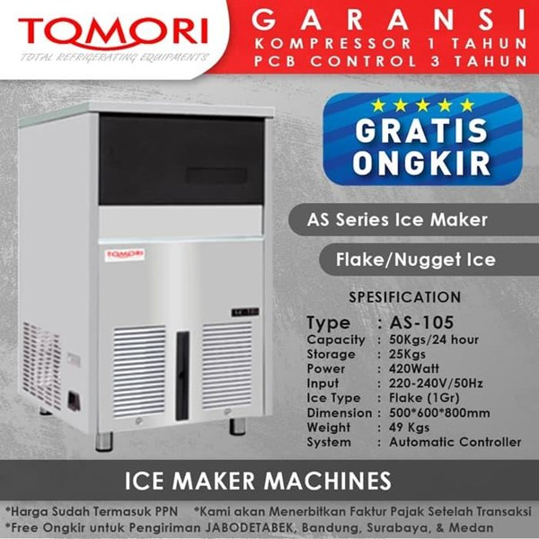 Tomori AS Series Flake/Nugget Ice Maker AS-105