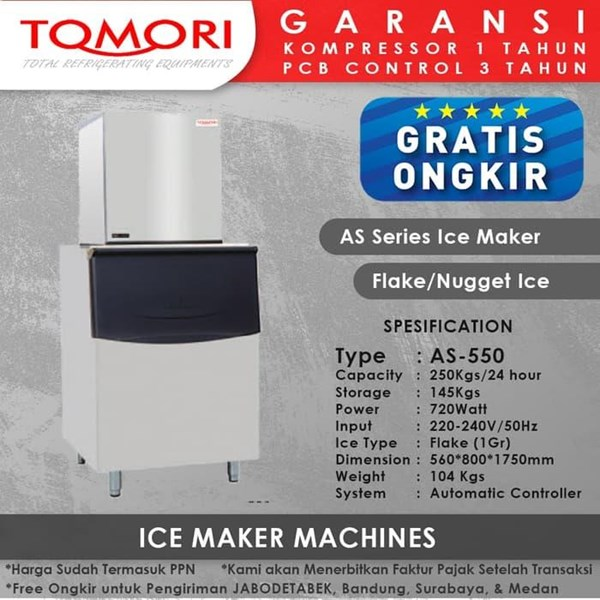 TOMORI AS Flake AS-550 Mesin Pembuat Es Flake