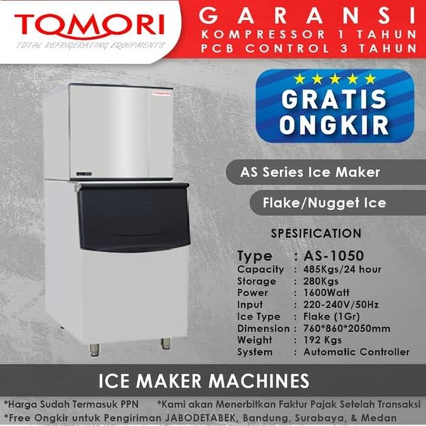 TOMORI AS Flake AS-1050 Mesin Pembuat Es