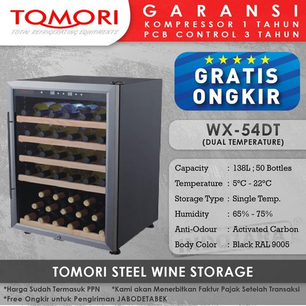 Mesin Penyimpan Wine Tomori Wine Storage Steel WX-54DT