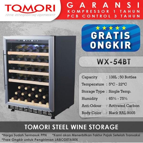 Mesin Penyimpan Wine Tomori Wine Storage Steel WX-54BT