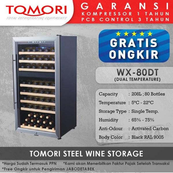 Mesin Penyimpan Wine Tomori Wine Storage Steel WX-80DT