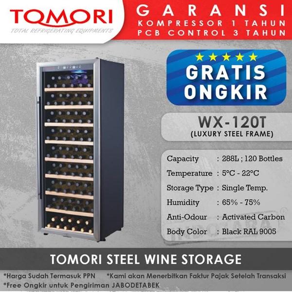 Mesin Penyimpan Wine Tomori Wine Storage Steel WX-120DT