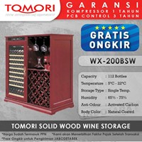 Mesin Penyimpan Wine Tomori Wine Storage Wood WX-200BSW
