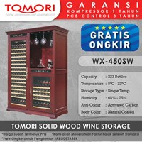 Mesin Penyimpan Wine Tomori Wine Storage Wood WX-450SW