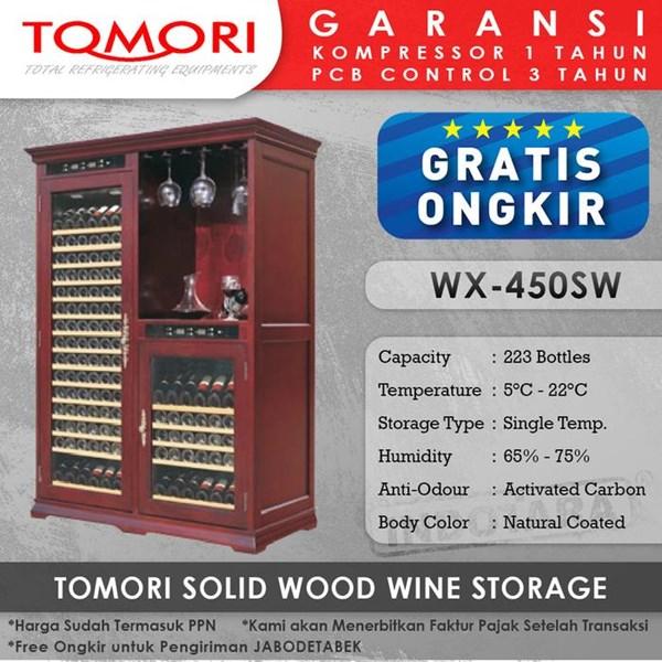 Wine Cooler Tomori Wine Storage Wood WX-450SW