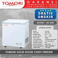 TOMORI SOLID DOOR CHEST FREEZER SD258