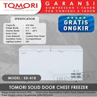 TOMORI SOLID DOOR CHEST FREEZER SD418