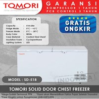 TOMORI SOLID DOOR CHEST FREEZER SD518