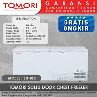 TOMORI SOLID DOOR CHEST FREEZER SD868